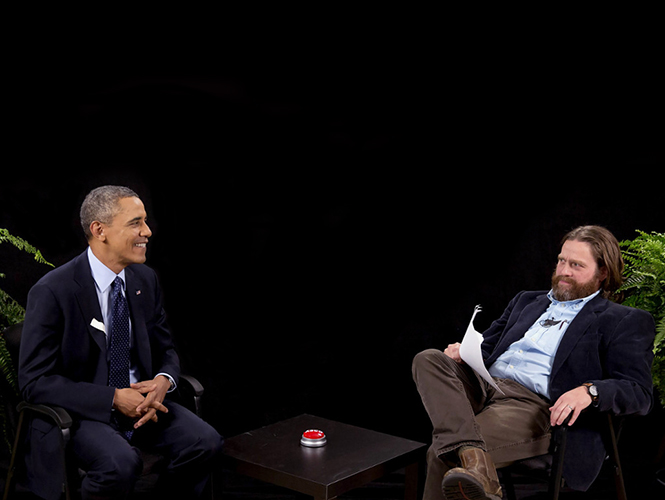 """Between Two Ferns"": Zach Galifianakis entrevistó a Barack Obama"