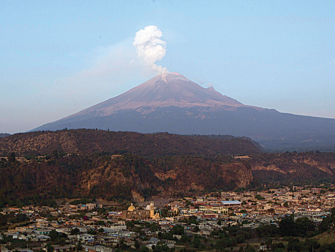Popocatpetl emite 18 exhalaciones en ltimas 24 horas