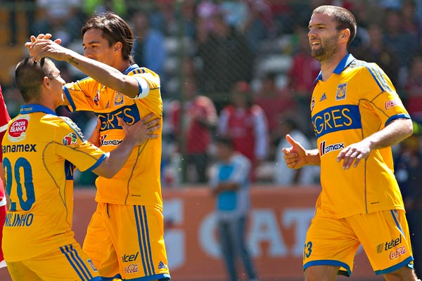 Con autoridad Tigres propina goleada al Toluca. (Mexsport)